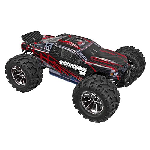Redcat Racing Earthquake 8E Brushless Electric Monster Truck, Red, 1/8 Scale