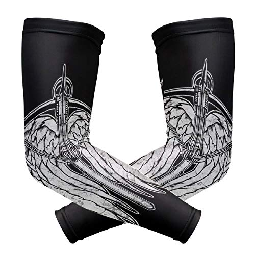 Mens Wings Xt (Arm Cooling Sleeves Angel Wings- DKRetro UV Protection Compression Cover for Men Women Youth in Outdoor Sports)