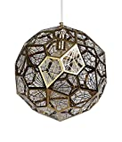 TYDG Post Modern Stainless Steel Ball Diamond Chandelier Creative Personality Geometric Lamps Bar Single headed Golden Pendant Lights Wall Sconce