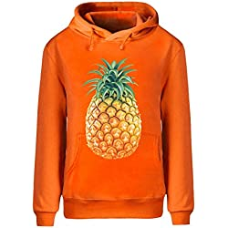 Eagle u2 Men's Winter Hoodie Sweatshirt Pineapple orange