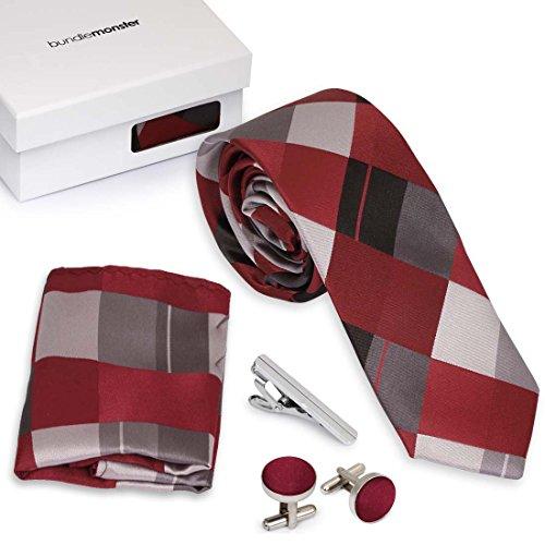 Bundle Monster 4pc Mixed Design Matching Pattern Mens Fashion Accessories Set