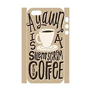 3D For SamSung Galaxy S3 Phone Case Cover Elegant Typography Silent Scream Coffee, Pop Art Cell For SamSung Galaxy S3 Phone Case Cover [White]