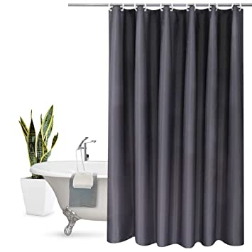 Aoohome Extra Long Shower Curtain 72 X 84 Inch Solid Fabric Liner For