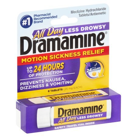 Pack of 10 - Dramamine Less Drowsy Formula Motion Sickness Relief Tablets - 8 CT by Dramamine (Image #2)