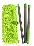 Xifando Trinodal Stainless Steel Telescopic Rod Detachable Mop, Mop Head With Two Different - Chenille And Coral Fleece