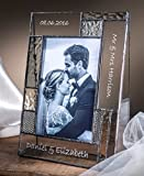 personalize photo - J Devlin Pic 392-46V EP567 Personalized Wedding Picture Frame Engraved Glass 4x6 Vertical Photo Keepsake Gift