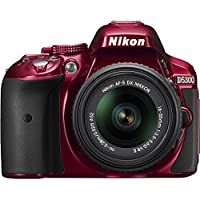 Nikon D5300 24.2 MP CMOS Digital SLR Camera with 18-55mm f/3.5-5.6G ED VR II Auto Focus-S DX NIKKOR Zoom Lens (Red)(Certified Refurbished) Overview Review Image