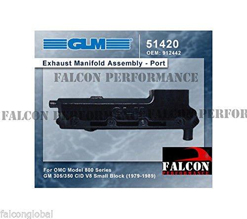 Glm Marine - OMC Marine Chevy 5.0 5.0L 305 5.7 5.7L 350 GLM Log Exhaust Manifold 1979-89 PORT