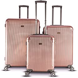 Gabbiano Genova Collection 3-piece Hardside Spinner Set (Rose Gold)