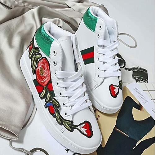 Mujer Zapatos Heel Microfibra Oro Comfort de de Cerrado de Negro Flat Verano Gold Sneakers Primavera de ZHZNVX Blanco EqdPq