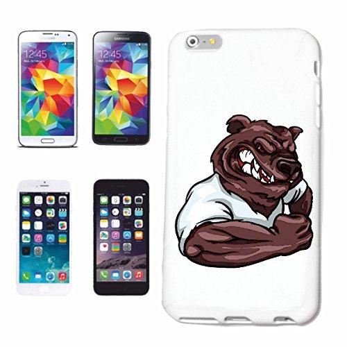 """cas de téléphone iPhone 7 """"POLAR BEAR BAER OURS EN MUSCLE SHIRT BODYBUILDING Musculation GYM GYM muskelaufbau SUPPLEMENTS WEIGHTLIFTING BODYBUILDER"""" Hard Case Cover Téléphone Covers Smart Cover pour A"""