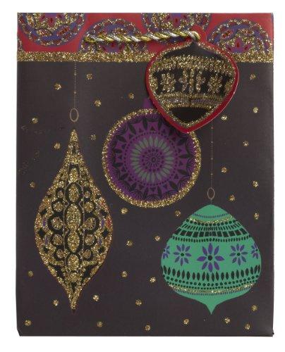 Jillson Roberts Bulk Small Christmas Gift Bags, Opulent Ornament, 120-Count (BXST693) by Jillson Roberts