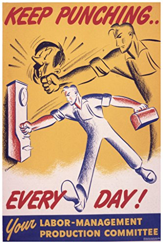 Keep Punching Every Day World War II Propaganda Poster 12x18