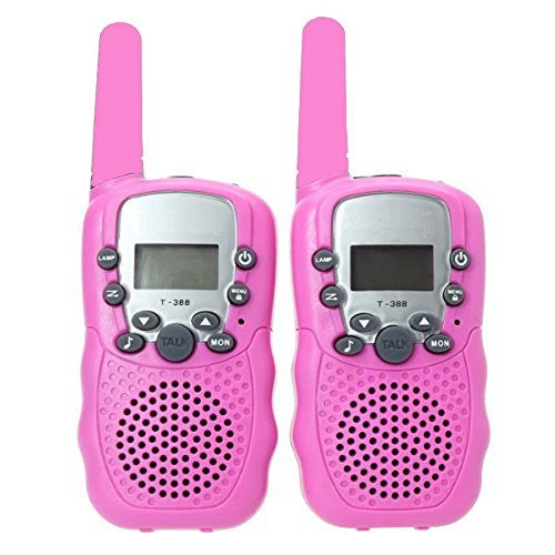 Camonity Two Pack 22 Channel Walkie Talkies for Kids Children Two Way Radio Long Range 2 Miles Open...