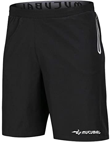competitive price c8f3d c625a MUCUBAL Men s Athletic Running Shorts Quick Dry Lightweight Training  Fitness Gym Sport Shorts Male with Reflective