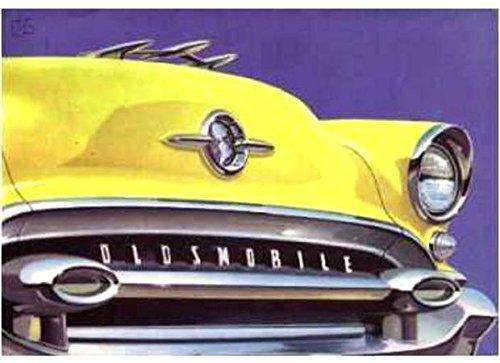 HISTORIC FULL COLOR 1955 OLDSMOBILE DEALERS SALES BROCHURE - SHOWS 10 MODELS - ADVERTISMENT 55