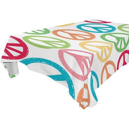 Ye Store Polyester Design Customized Simbolo Tablecloth (Simboli Di Halloween)