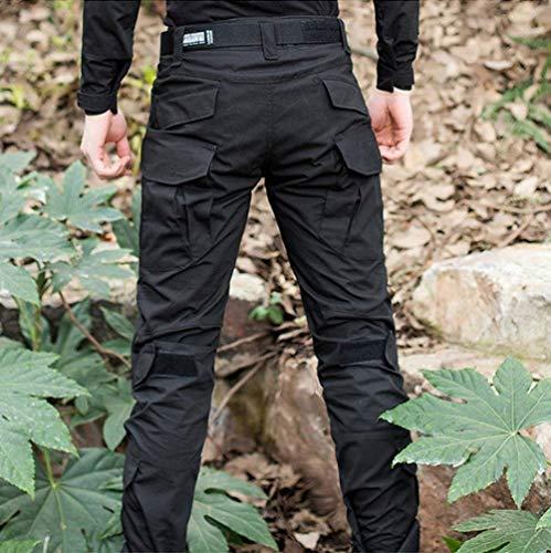 Traspirante All'aperto Combat Lavoro Cargo tasche Mimetici Da Army Trekking Essenziale Escursionismo Emmay Nero Impermeabile Uomo Multi Pantaloni Tattici Camping Caccia Camo PzqWwUAS