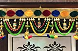 reptum decor Handmade Cotton Door Toran Multicolour for Home Décor, Bandhanwal for Home Décor- Size 37 inch