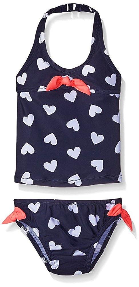 Osh Kosh Baby Girls' Heart Print with Ties Two Piece Tankini SB16538