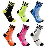 VWU 6 Pack Mens Cycling Socks Running Sports Socks Ankle Socks Size...