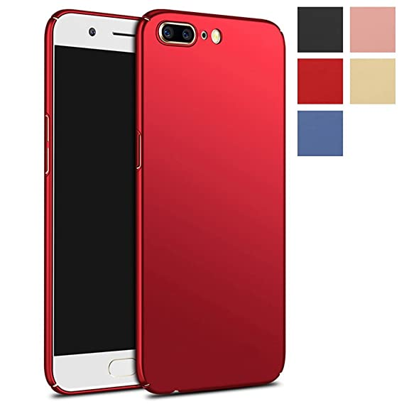 outlet store 297c4 4ed8d OnePlus 5 Case, MicroP Ultra Thin Lightweight Hard Phone Case Cover for  OnePlus 5 / OnePlus Five (Red Hard Case)