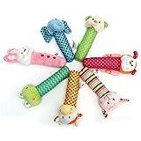 Big Bazaar Bazaar Animal Developmental Soft Stuffed Infant Baby Plush Hand Toys Rattles Kids Bell Cute Cartoon