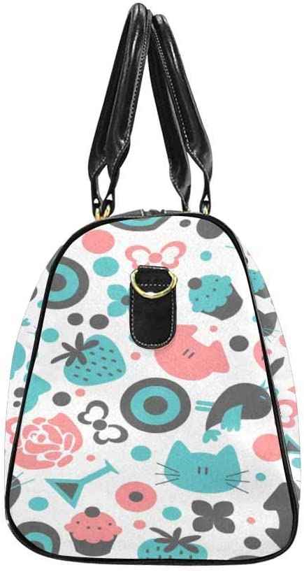 InterestPrint Carry-on Garment Bag Travel Bag Duffel Bag Weekend Bag Sweet Pattern
