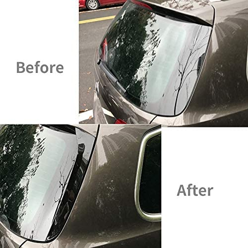 Basage Rear Side Wing Roof Spoiler Stickers Trim Cover Gloss Black for Magotan Travel Edition Passat B6 B7 2006-2015