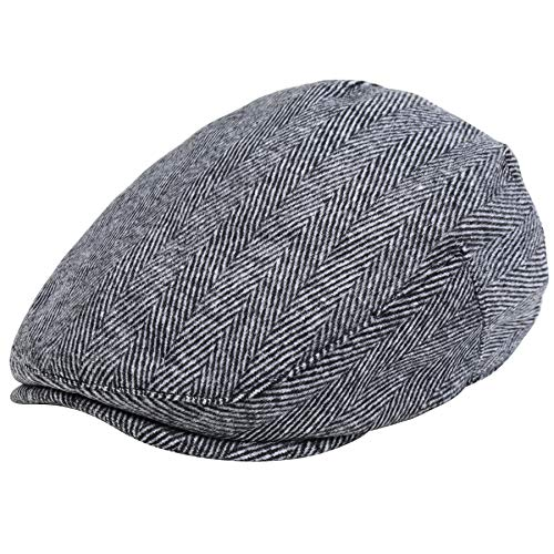 BABEYOND 1920s Gatsby Newsboy Hat Cap for Men Gatsby Hat for Men 1920s Mens Gatsby Costume Accessories (Gray, Small/Medium) ()