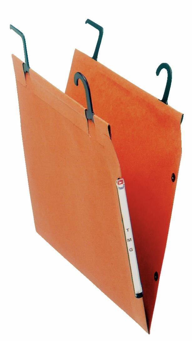Lot de 25 Fond 15 mm 77103 Orgarex TMG Orange Esselte Dossier Suspendu Lat/éral Armoire Pour Syst/ème de Suspension /à Tube