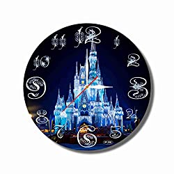 Disney World 11.8'' Handmade Art Wall Clock - Get Unique décor for Home or Office - Best Gift Ideas for Kids, Friends, Parents and Your Soul Mates - Made of Plastic