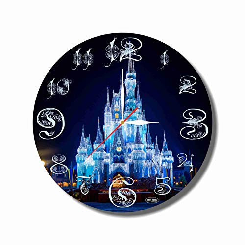 Disney Wall Clocks - Disney World 11.8'' Handmade Art Wall Clock - Get Unique décor for Home or Office - Best Gift Ideas for Kids, Friends, Parents and Your Soul Mates - Made of Plastic