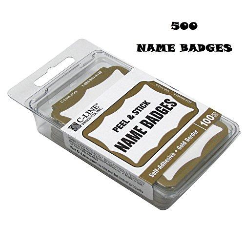 C Line Pressure Sensitive Badges Border product image