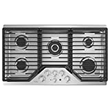 36inch gas cooktop - GE Profile PGP9036SLSS 36 Inch Natural Gas Sealed Burner Style Cooktop with 5 Burners in Stainless Steel