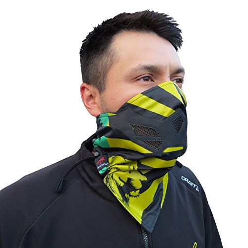 Half Face Mask for Cold Winter Weather. Use this Half Balaclava for Snowboarding, Ski, Motorcycle. (Many Colors) (Rasta)