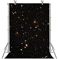 FUERMOR Background 5X7ft Flashing Galaxy Stars Photography Backdrop Photo Studio Props M340