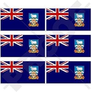 """Bandera de las Islas 1.6Islas Malvinas, falklands 40mm (1,6"""") Funda para, teléfono celular Mini de vinilo pegatinas, calcomanías x6"""