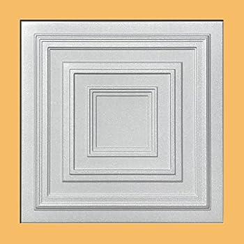 antyx white foam ceiling tile 40pc box decorative ceiling tile easy glue up diy - Decorative Ceiling Tiles