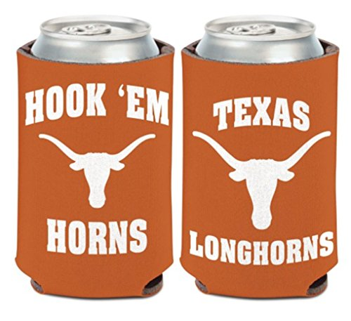 (WinCraft NCAA University Texas Longhorns 1 Pack 12 oz. 2-Sided Can Cooler )