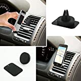UNUM Magnetic Cell Phone Mount Fixed Edition Universal Vehicle Car Air Vent Mount for GPS iPhone Android Samsung GoPro MH001 UNUM (Black)