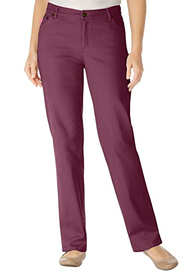 1e0d0137592 Woman Within Plus Size Tall Straight Leg Stretch Jean (Fig
