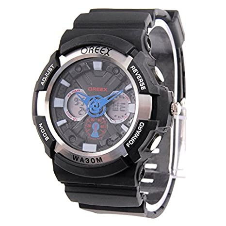 OREEX Sport LED relojes with relojes Hand/Week/Time/Fecha/Alarm/