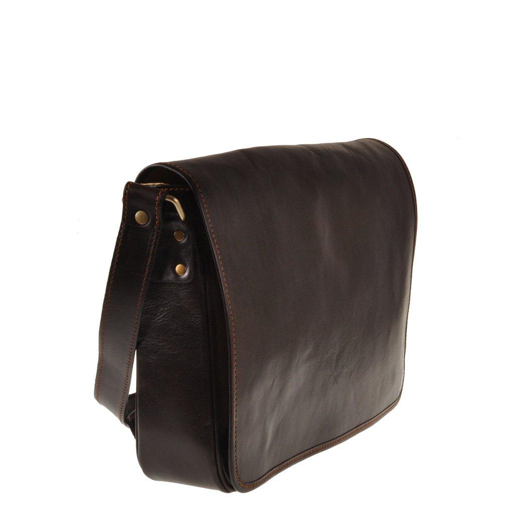 Pellevera Ravenne sac italienne messager de cuir. sac mortuaire croix (noir) Y4ECgGq