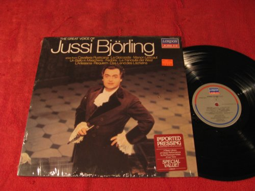 The great voice of Jussi Bjorling: Arias from Cavalleria Rusticana; La Gioconda; Manon Lescaut; Un Ballo in Maschera; Fedora; La Fanciulla del West; L'Arlesiana; Requiem; Das Land des Lachelns: Vinyl - Mall West Land