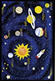 "Concord Global Fun Time Outer Space Navy Blue Kids Rug 4'5"" x 6'1"" (0854)"