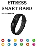 Xiaomi Mi Max 2 Compatible M2 Smart Band | Heart Rate Sensor Features | Impressive Features | Fitness | Sleep Monitor | Activity | Tracker | Water Proof | Sweat Free| Bluetooth 4.0 By mobicell