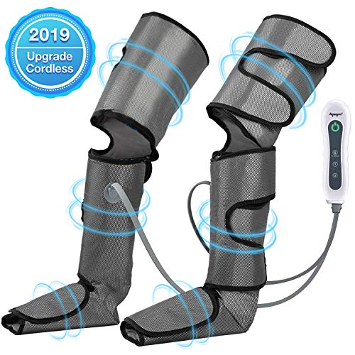 Leg Massager for Circulation, Air Compression Foot Massager for Thighs, Calf, Legs and Feet, Compression Boot Wraps for Restless Leg, Muscle Pain, Lymphedema, Edema, for Home Office Travel use