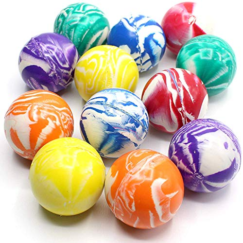 (Kicko 2 Inch Marble Balls - 12 Pieces of Assorted 2 Tone Colors - Perfect for Vase, Landscapes, Fish Tank Aquariums, Collection, Stress Reliever, Novelties, Party Favor and Supplies)
