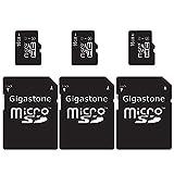 Gigastone 3-Packs MicroSD HC 16GB C10 U1 With SD Adapter includes Bonus Instant Savings Coupon